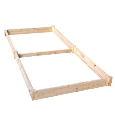 4 ft. x 8 ft. x 11 in. Wood Raised Garden Bed