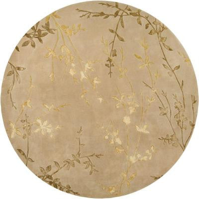 Alicia Tan 8 ft. Round Area Rug