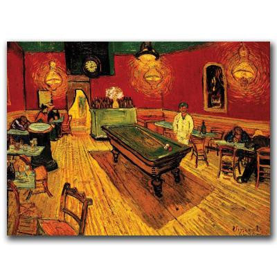 14 in. x 19 in. The Night Cafe Canvas Art