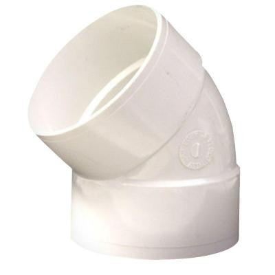4 in. PVC 45-Degree H x H Elbow