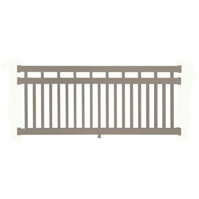 Hallandale 42 in. x 48 in. Vinyl Khaki Straight Rail Kit