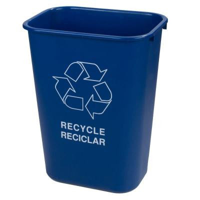 41.25 Qt. Blue Recycling Logo Wastebasket (12-Pack)