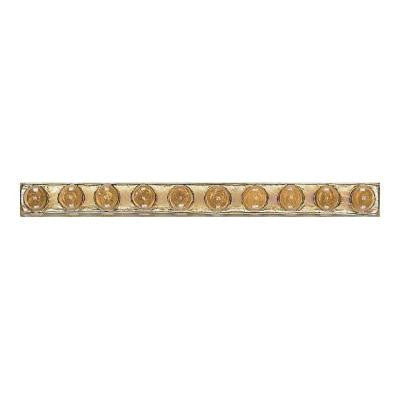 Cristallo Glass Smoky Topaz 3/4 in. x 8 in. Bead Accent Wall Tile