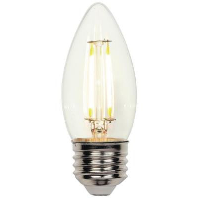 40W Equivalent Soft White Decorative B11 Torpedo Medium Base Dimmable Filament LED Light Bulb