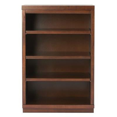 Mudroom 3-Shelf Wood Narrow Wall Credenza Shelving Unit in Sequoia