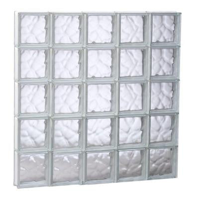 38.75 in. x 38.75 in. x 3.125 in. Non-Vented Wave Pattern Glass Block Window
