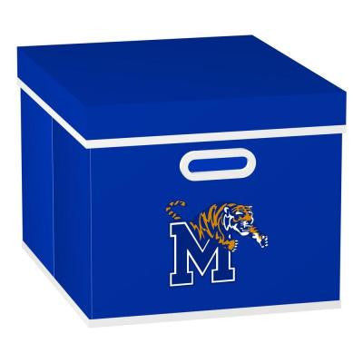 University of Memphis College STACKITS 12 in. x 10-1/2 in. x 15 in. Royal Blue Fabric Storage Cube