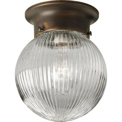 1-Light Antique Bronze Flushmount
