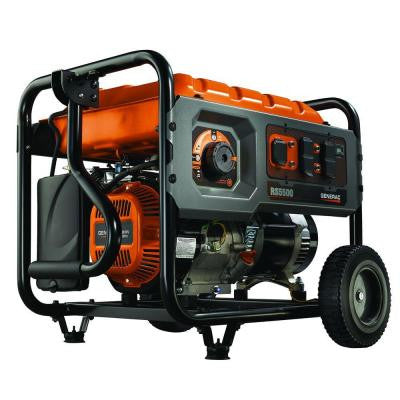 5,500 Watt Gasoline Powered Generator with Rapid Start Dial