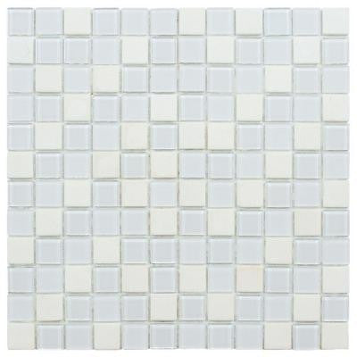 Spectrum Square Cordia 11-1/2 in. x 11-1/2 in. x 4 mm Glass and Stone Mosaic Wall Tile