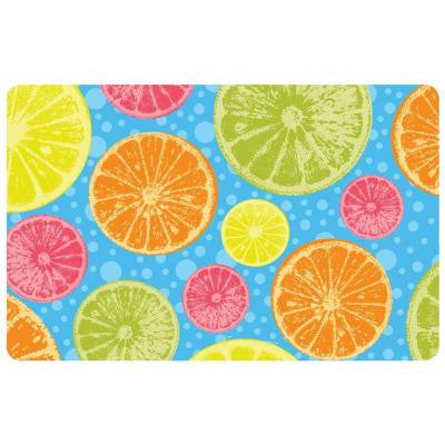Multi Color 18 in. x 27 in. Neoprene Zesty Door Mat