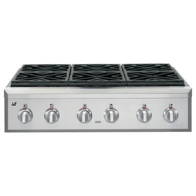 Cafe 36 in. Gas Cooktop in Stainless Steel with 6 Burners