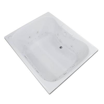 Rhode 5 ft. Whirlpool and Air Bath Tub in White