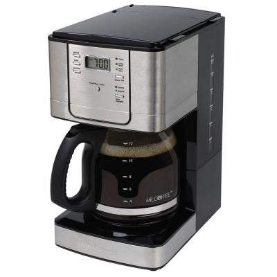 12-Cup Programmable Coffeemaker in Black