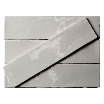 Catalina Gris 3 in. x 12 in. x 8 mm Ceramic Floor and Wall Subway Tile (4 Tiles Per Unit)