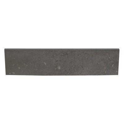 Terra Antica Celeste/Grigio 3 in. x 12 in. Porcelain Surface Bullnose Floor and Wall Tile