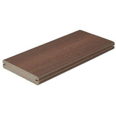 Horizon 1 in. x 5-1/4 in. x 20 ft. Tudor Brown Grooved Edge Capped Composite Decking Board (56-Pack)