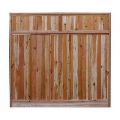 6 ft. H x 6 ft. W Western Red Cedar Solid Lattice Top Fence Panel Kit
