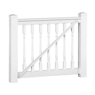 Delray 36 in. x 60 in. Vinyl White Gate Rail Kit