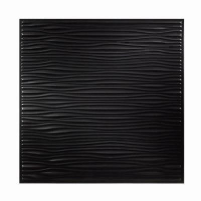 2 ft. x 2 ft. Drifts Black Ceiling Tile