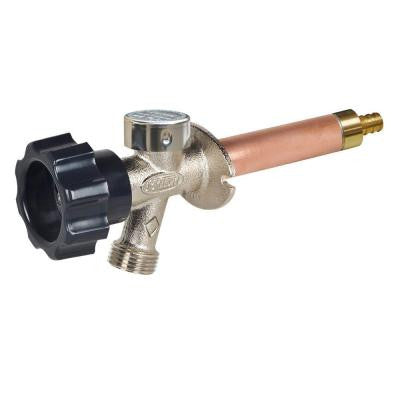 1/2 in. x 4 in. Brass Crimp PEX Half-Turn Frost Free Anti-Siphon Outdoor Faucet Sillcock