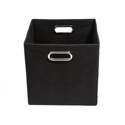 Smarty Pants 10.5 in. x 10.5 in. x 10.5 in. Folding Solid Black Fabric Storage Bin