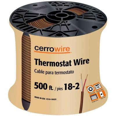 500 ft. 18/2 Conductor Thermostat Wire - Grey