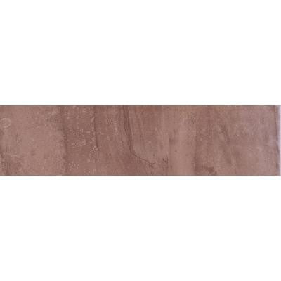 Cityscape Plaza Brown 3 in. x 12 in. Glazed Porcelain Bullnose Floor and Wall Tile