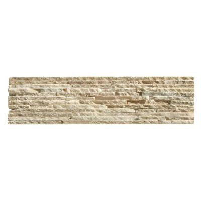 Portico Slate Baia 6 in. x 23-1/2 in. x 19.05 mm Beige Natural Stone Wall Tile (5.88 sq. ft. / case)