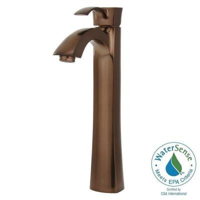 Otis Single Hole 1-Handle Bathroom Vessel Faucet in Oil Rubbed Bronze