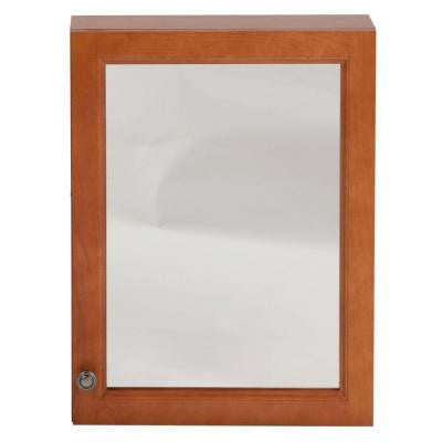 Chelsea 18 in. x 24 in. Surface-Mount Medicine Cabinet in Nutmeg