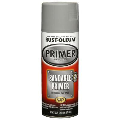 12 oz. Gray Sandable Primer Spray Paint (6-Pack)