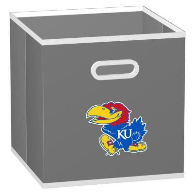 College STOREITS University of Kansas 10-1/2 in. x 10-1/2 in. x 11 in. Grey Fabric Storage Drawer