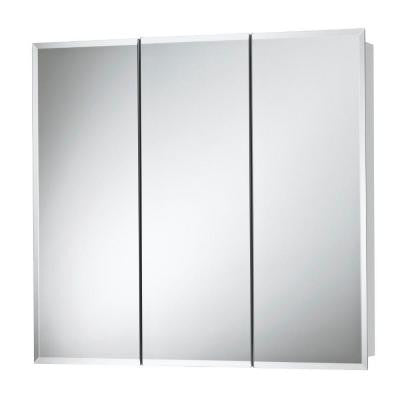 Horizon 36 in. W x 28-1/4 in. H x 5-1/4 in. D Surface-Mount Medicine Cabinet with 1/2 in. Beveled Mirror in White