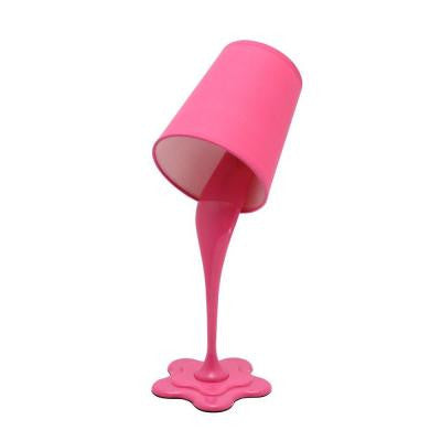15.5 in. Hot Pink Table Lamp