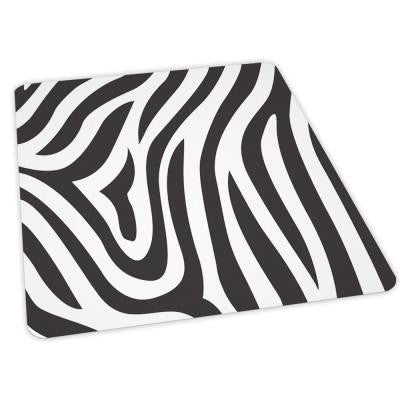 Design Zebra Print 36 in. x 48 in. Carpet Vinyl Chair Mat