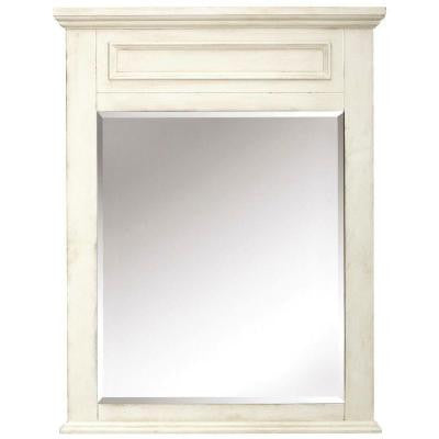 Sadie 36 in. L x 28 in. W Wall Mirror in Antique Cream