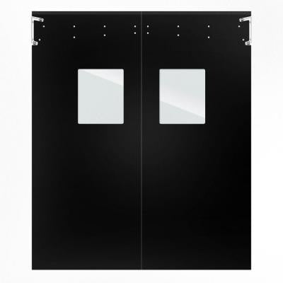 Optima 1/4 in. x 96 in. x 120 in. Single-Ply Black Impact Door
