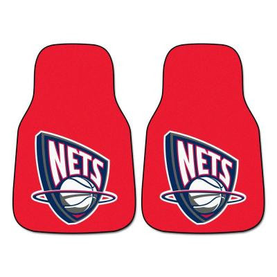 New Jersey Nets 18 in. x 27 in. 2-Piece Carpeted Car Mat Set