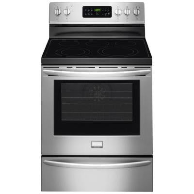 Gallery 30 in. 5.7 cu. ft. Electric Range with Self-Cleaning QuickBake Convection Oven in Smudge-Proof Stainless Steel