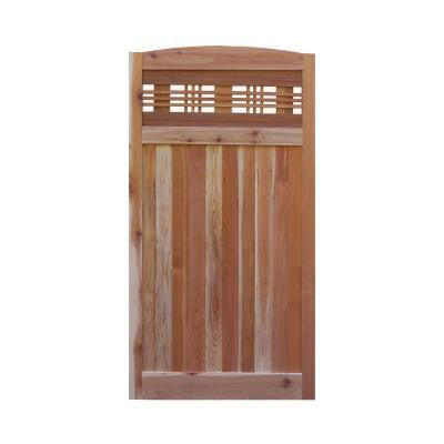 3 ft. W x 6 ft. H Western Red Cedar Arch Top Horizontal Lattice Fence Gate