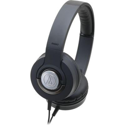 Solid Bass Closed-Back Dynamic Headphones - Black