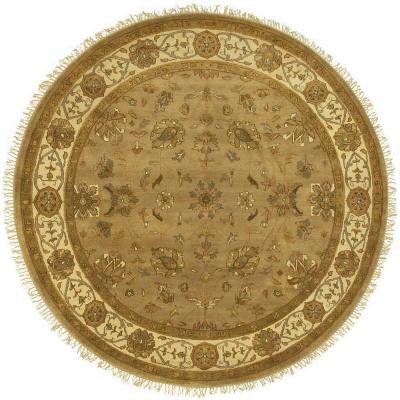 Lemos Tan 8 ft. Round Area Rug