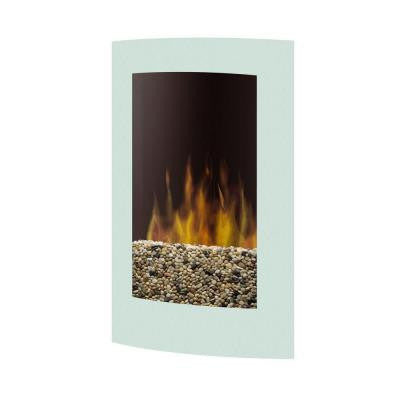 23 in. Wall-Mount Electric Fireplace in White