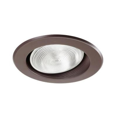 NICOR 6 in. Oil Rubbed Bronze Recessed Baffle Trim for Sloped Ceiling