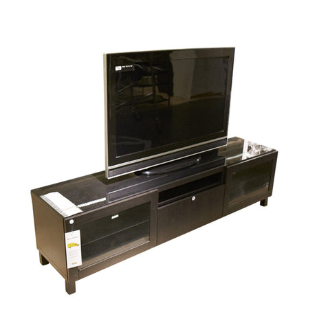 Lappviken/sindvik Black-brown Clear Glass Drawer Runner, Push-open 70 7/8x15 3/4x18 7/8 ""