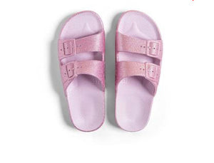 Sparkle Pink Silicone Slides