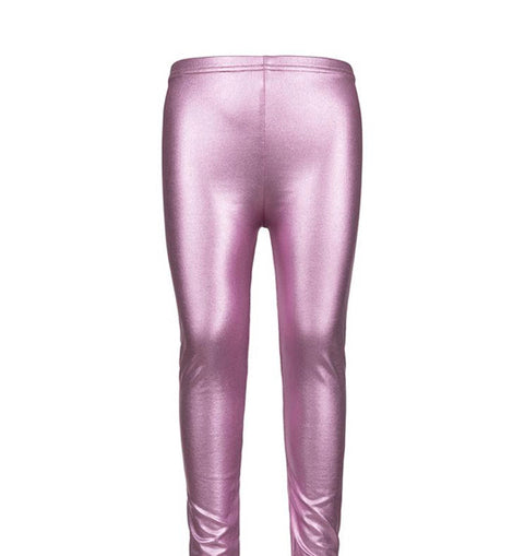 Light Pink Metallic Leggings