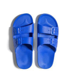 Electric Blue Silicone Slides