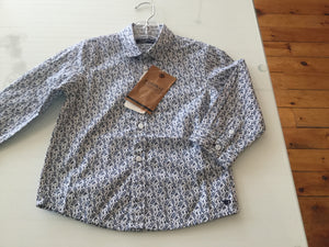Paisley long sleeve button up shirt